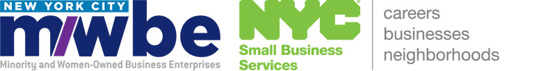 NYC Minority and Women-Owned Business Enterprises and NYC Small Business Services logos