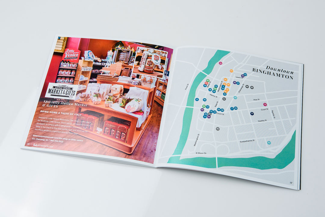 Downtown Binghamton map page in book