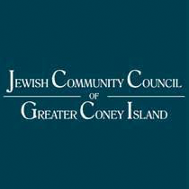 Jewish Community Council of Greater Coney Island navy block logo