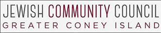 Jewish Community Council of Greater Coney Island red and gray logo
