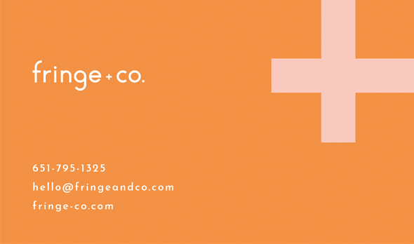 fringe co business card front