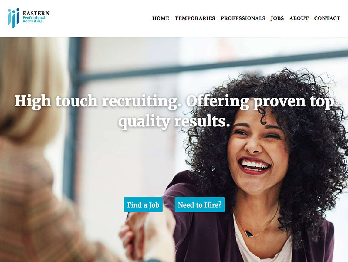 Eastern Professionals website landing page
