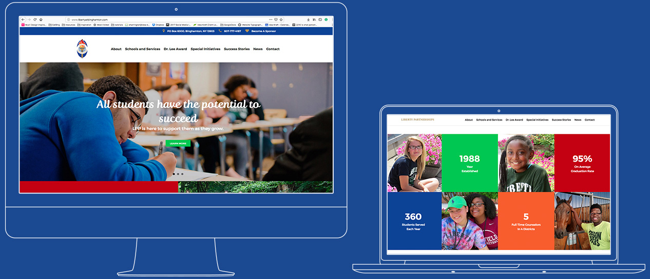 Liberty Partnerships website responsive