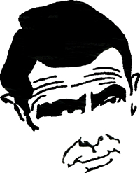 Rod Serling caricature