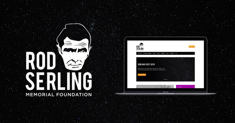 Rod Serling Memorial Foundation logo and website