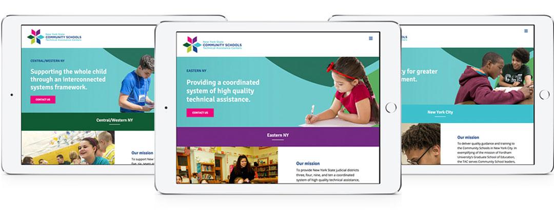 iPads featuring each regional technical assistance center