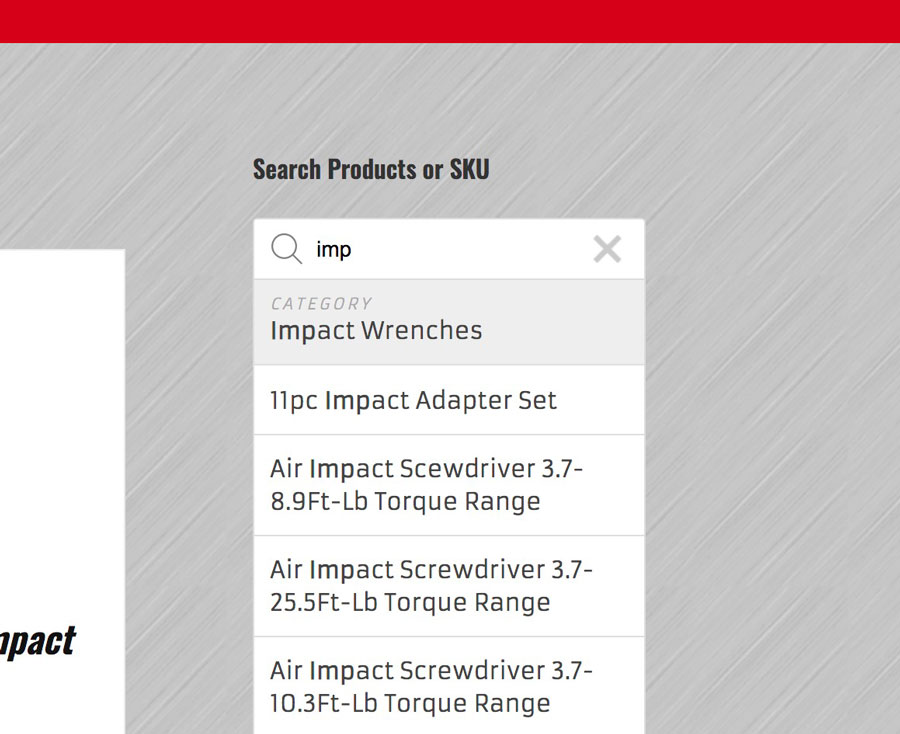 Search Products or SKU