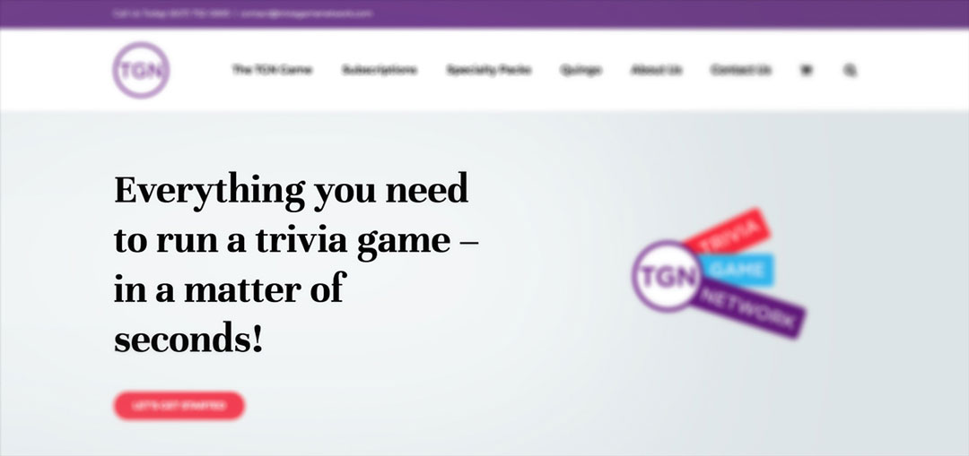 Trivia Game Network tagline