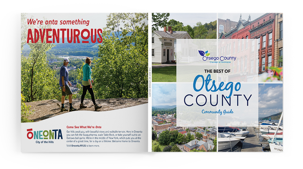 Otsego County community book cover spread