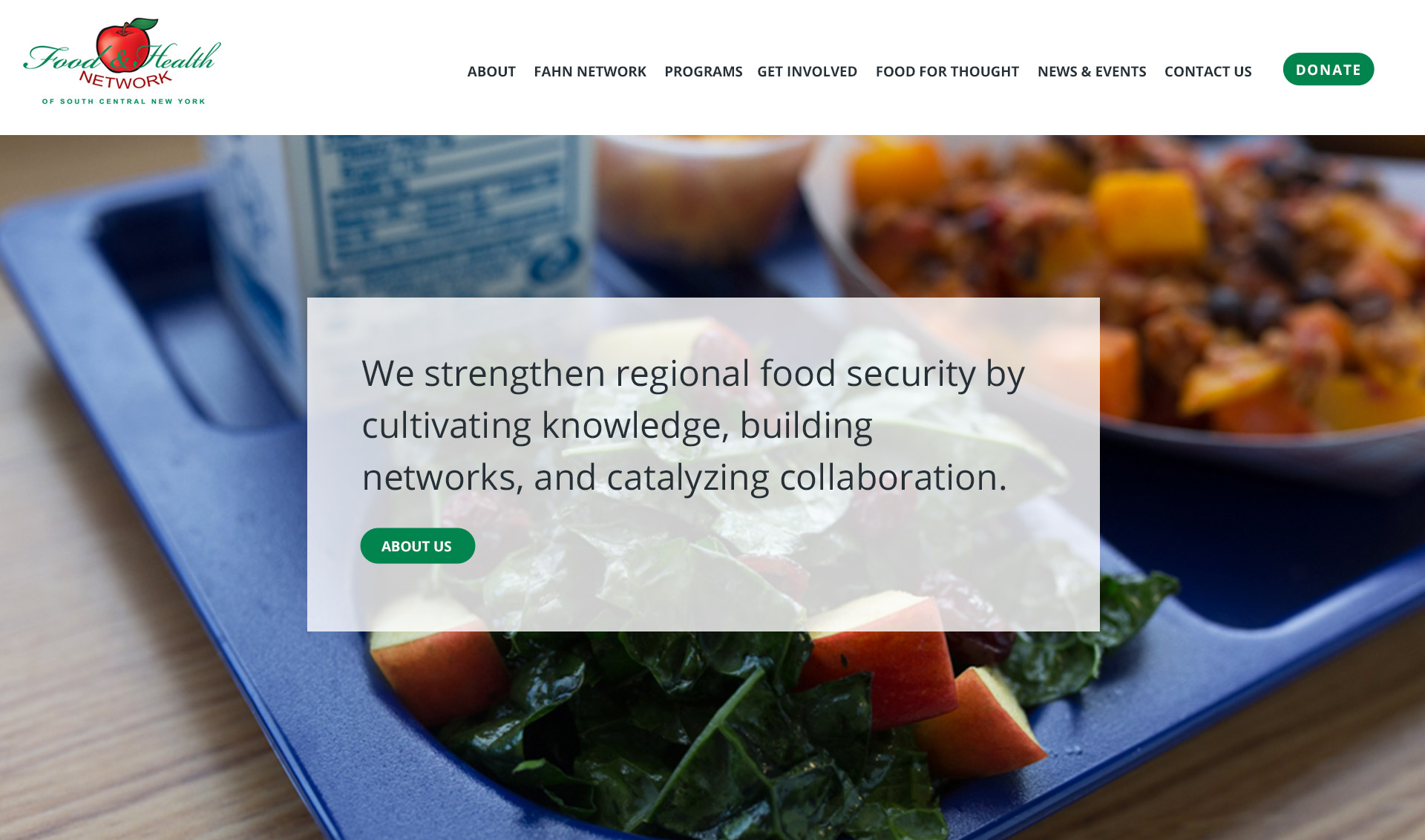 New Food and Health Network homepage