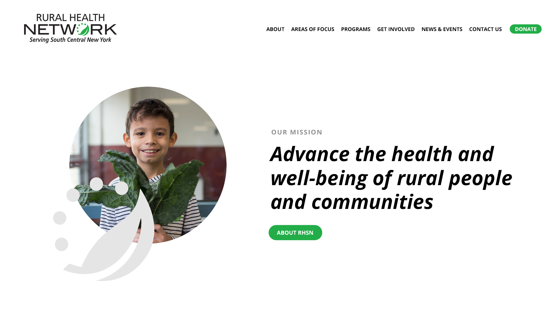 Rural Health Network new homepage