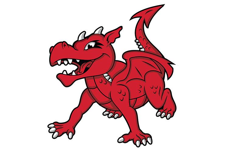 SUNY Cortland sport club identity dragon illustration