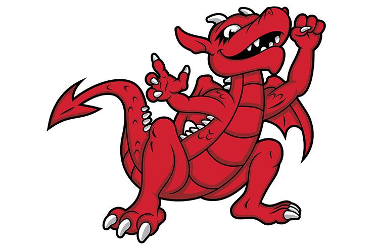 SUNY Cortland baby dragon illustration