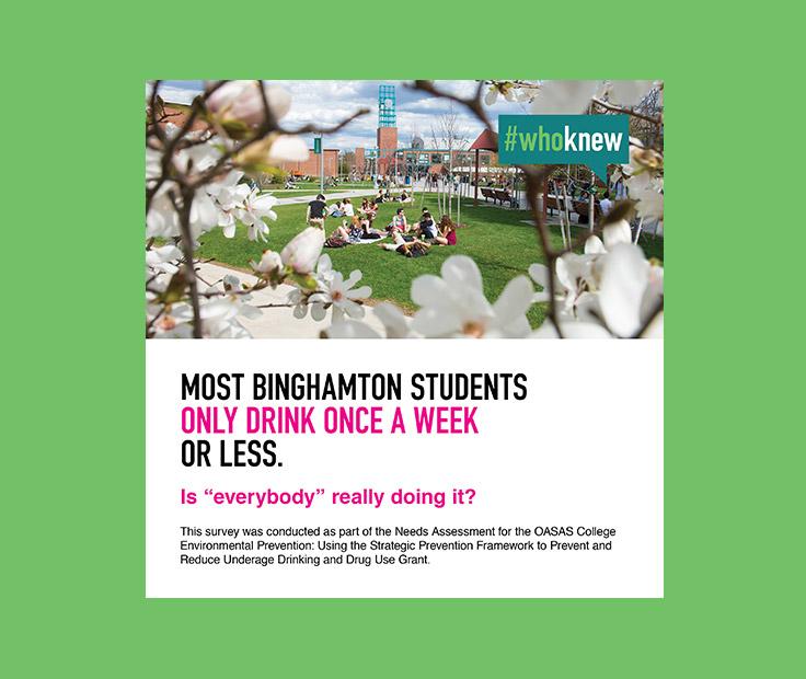 SUNY Binghamton social norms social media ad