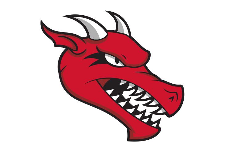 SUNY Cortland fierce dragon head