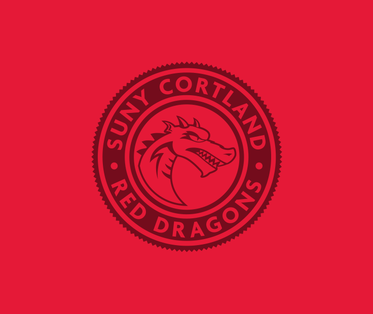 SUNY Cortland Red Dragon badge