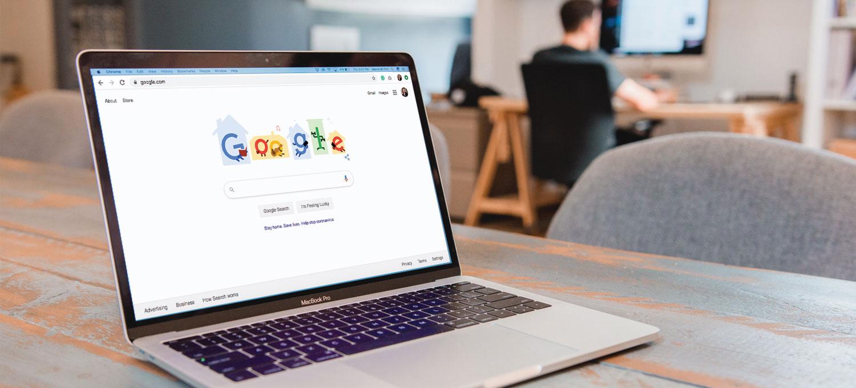 Google on MacBook Pro at Idea Kraft office