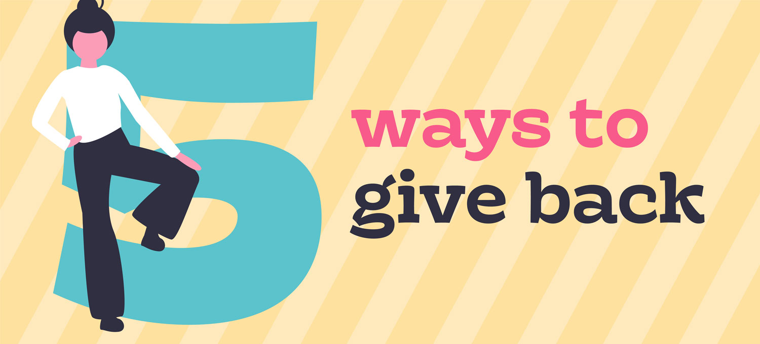 5 ways to give back graphic