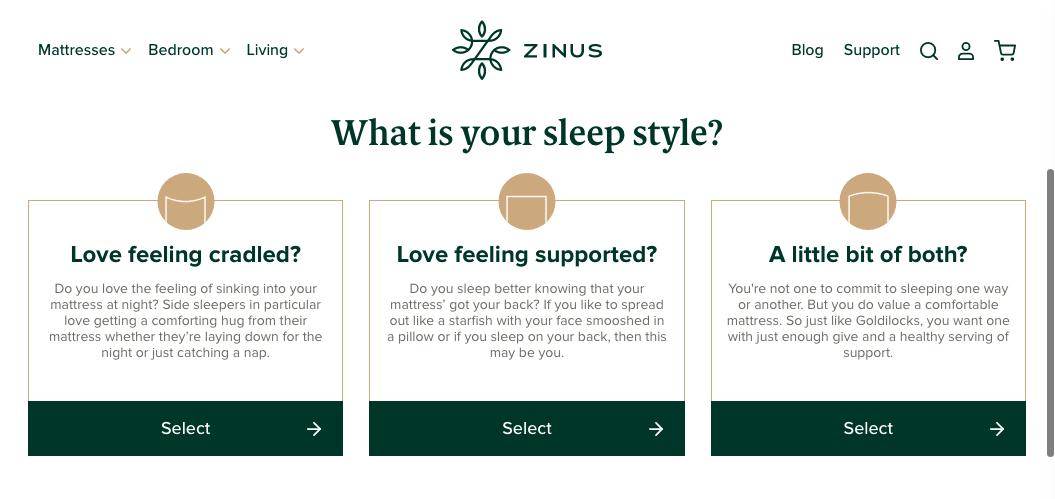 Zinus Web